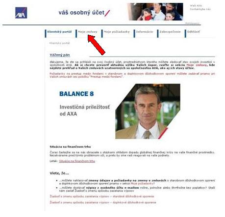 AXA_uvodna stranka ponalogovani doosobneho uctu klienta.jpg